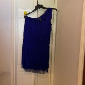 Cobalt blue-Gatsby flapper dress